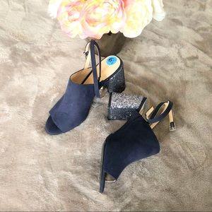 New Nine West navy blue sandals size 6 1/2